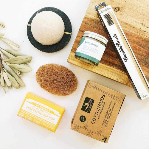 The Clean Collective Plastic-Free Bathroom Bundle 2.0