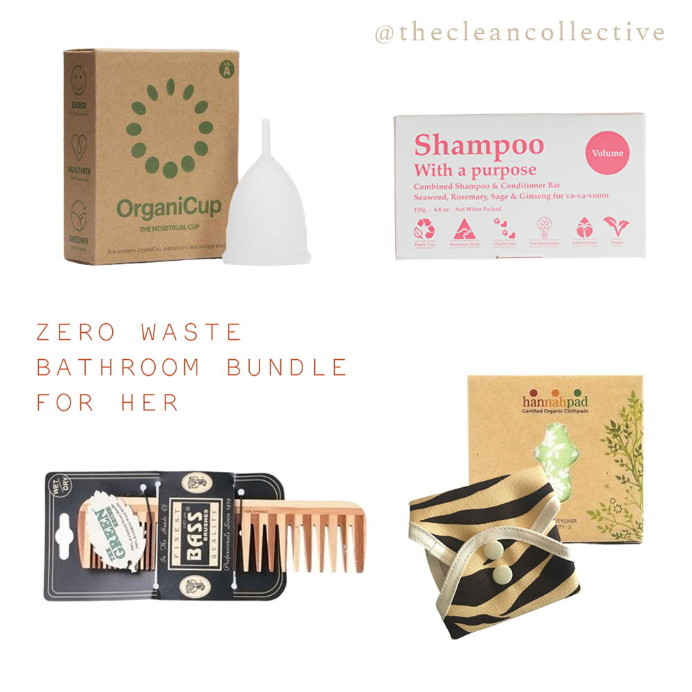 The Clean Collective Zero-Waste Bathroom for Her