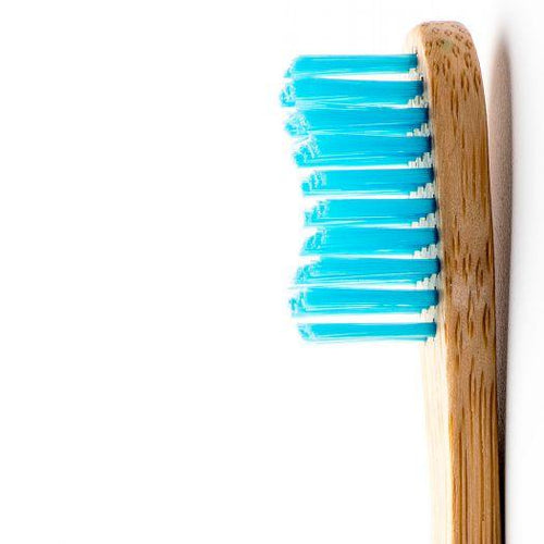 The Humble Co. Bamboo Toothbrush, Adult Medium Blue