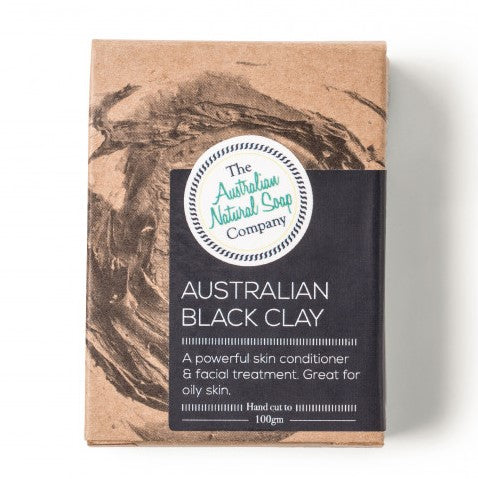 The ANSC Australian Black Clay Cleansing Bar (100g)