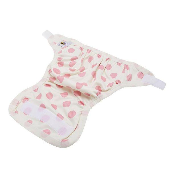 Baby Beehinds PUL Cover (PUL with Velcro) Pink Spot