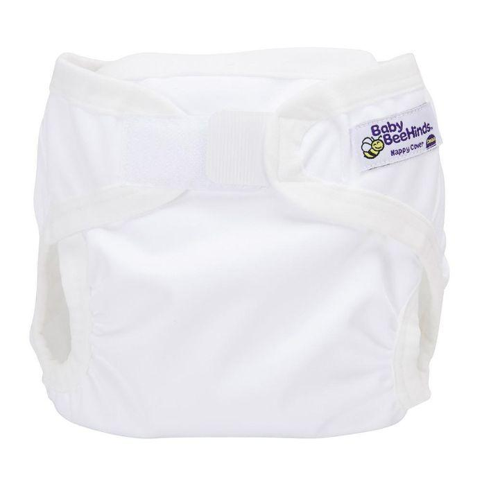 Baby Beehinds PUL Cover (PUL with Touch Fastener) White - The Clean Collective