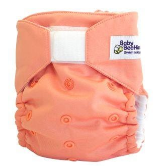 Baby Beehinds Swim Nappy, Coral - The Clean Collective