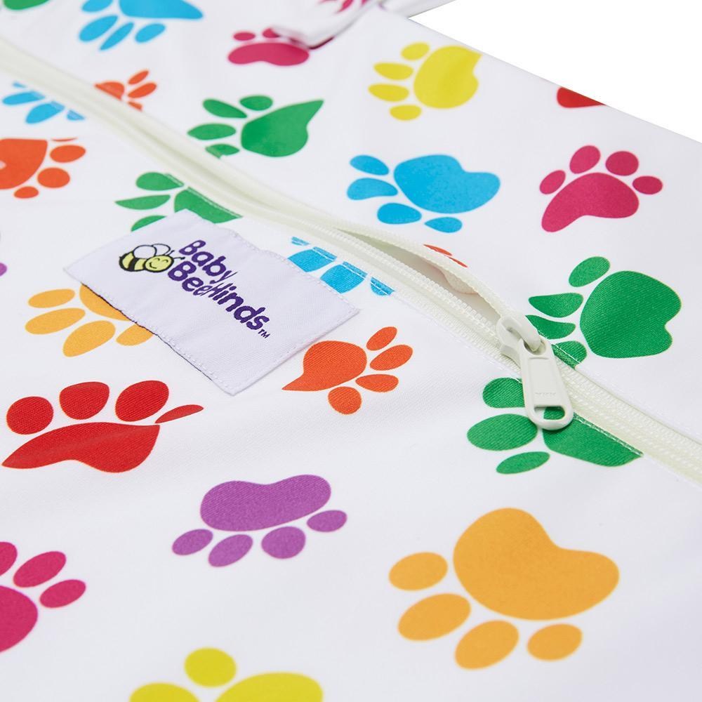 Baby Beehinds XL Hanging Wet Bag - Paw Print  (52cmx74cm)