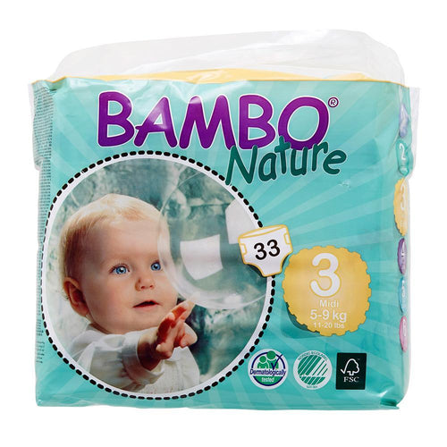 Bambo Nature Nappies Midi (Size 3/5-9kg) - Monthly Subscription