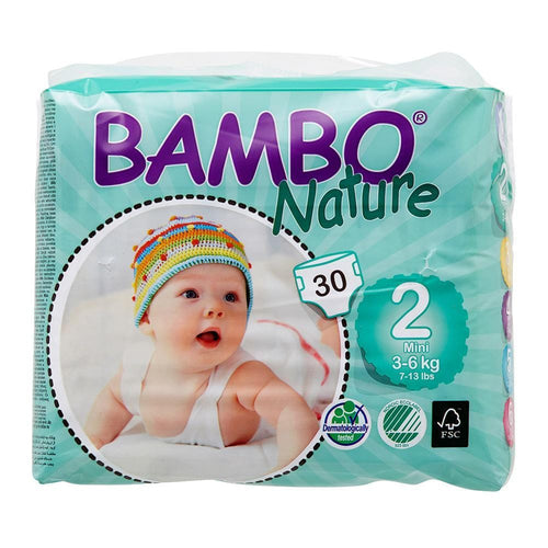 Bambo Nature Nappies Mini (Size 2/3-6kg) - Monthly Subscription
