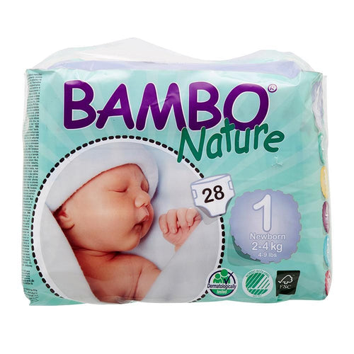 Bambo Nature Nappies Newborn (Size 1/2-4kg) - Monthly Subscription