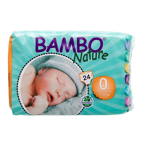 Bambo Nature Nappies Premature (Size 0/1-3kg) - Monthly Subscription
