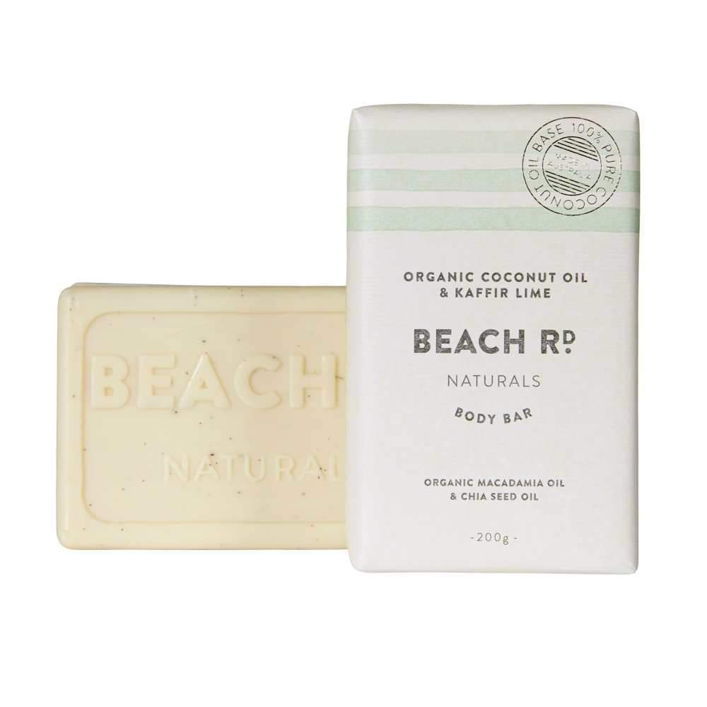 Beach Rd Naturals Body Bar - Organic Coconut Oil & Kaffir Lime 200g