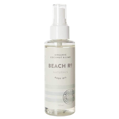 Beach Rd Naturals Body Oil - Organic Coconut & Lime 125ml