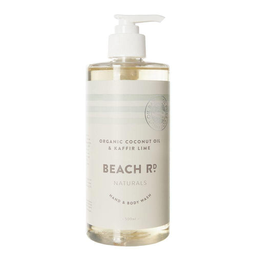 Beach Rd Naturals Hand & Body Wash - Organic Coconut Oil & Kaffir Lime 500ml