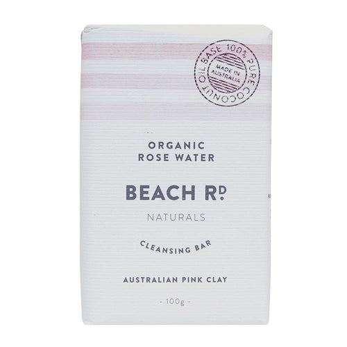 Beach Rd Naturals Cleansing Bar, Organic Rose Water 100g