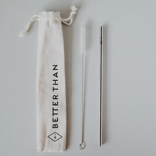 Better Than Stainless Steel Straw with Travel Pouch