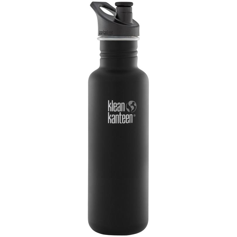 Klean Kanteen Bottle Shale Black Matte Sports Cap 800ml