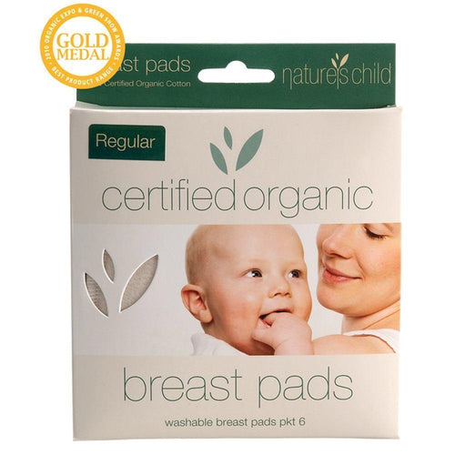 Nature's Child Organic Cotton Breast Pads Regular, 6 pack