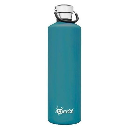 Cheeki Stainless Steel Insulated Bottle, 1L Topaz - The Clean Collective