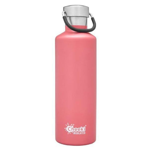 Cheeki Stainless Steel Insulated Bottle, 600ml Dusty Pink - The Clean Collective