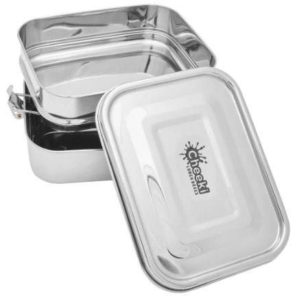 Cheeki Stainless Steel Lunch Box, Double Stacker 1L- The Clean Collective