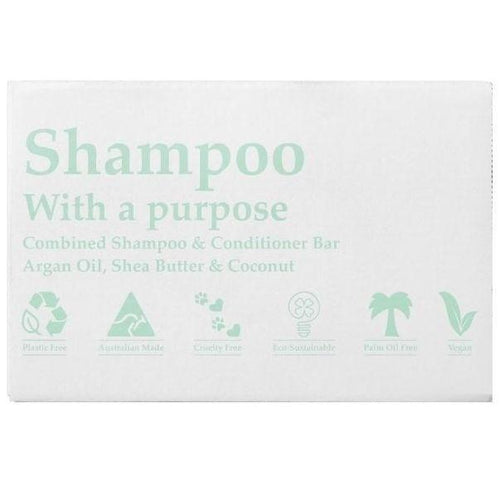 Shampoo With A Purpose Combined Shampoo & Conditioner Bar 125g, Original - The Clean Collective