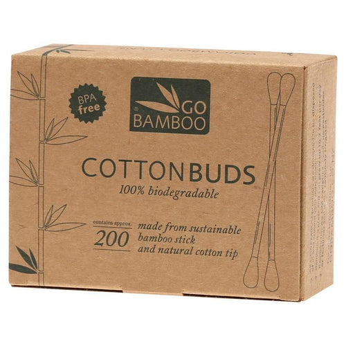 Go Bamboo Biodegradable Cotton Buds - Pack Of 200