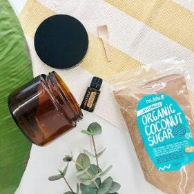 The Clean Collective Delicious Orange Coffee Scrub - DIY Gift Kit (Makes 4)