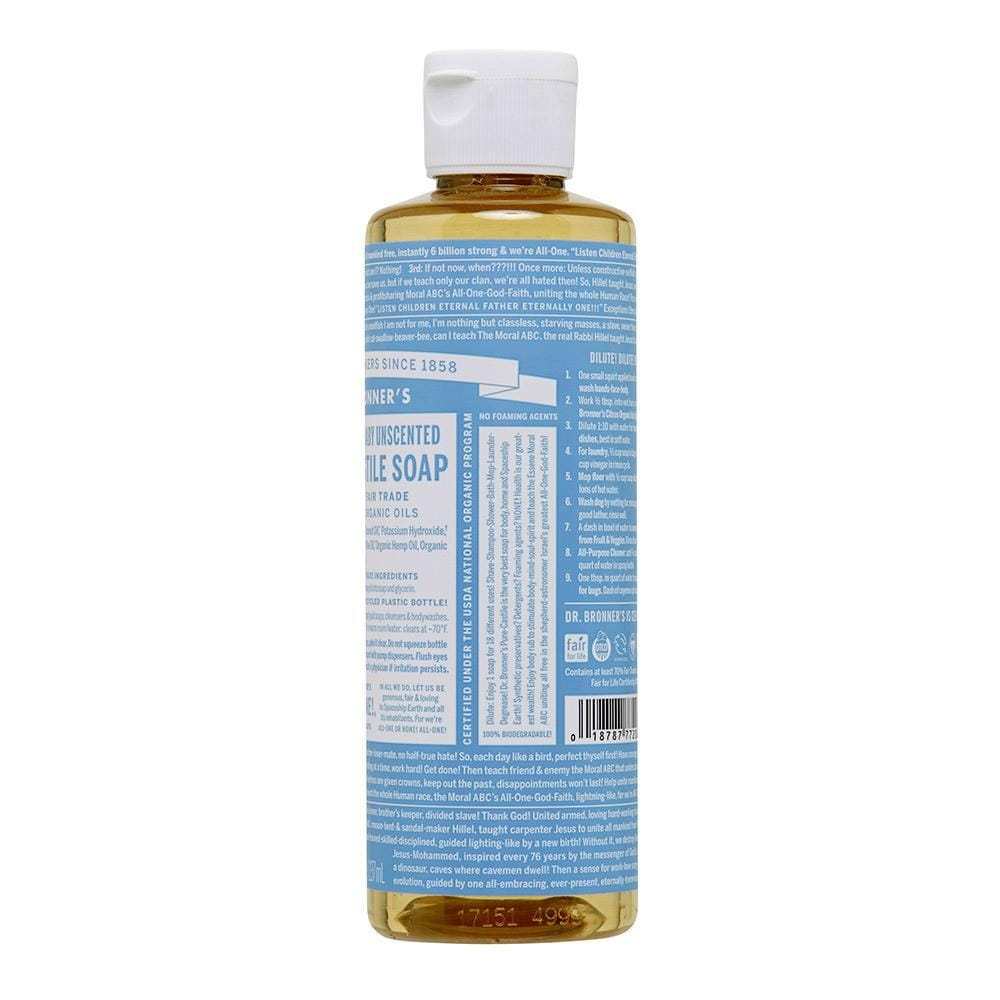 Dr. Bronner's Pure Castile Soap - Baby Unscented