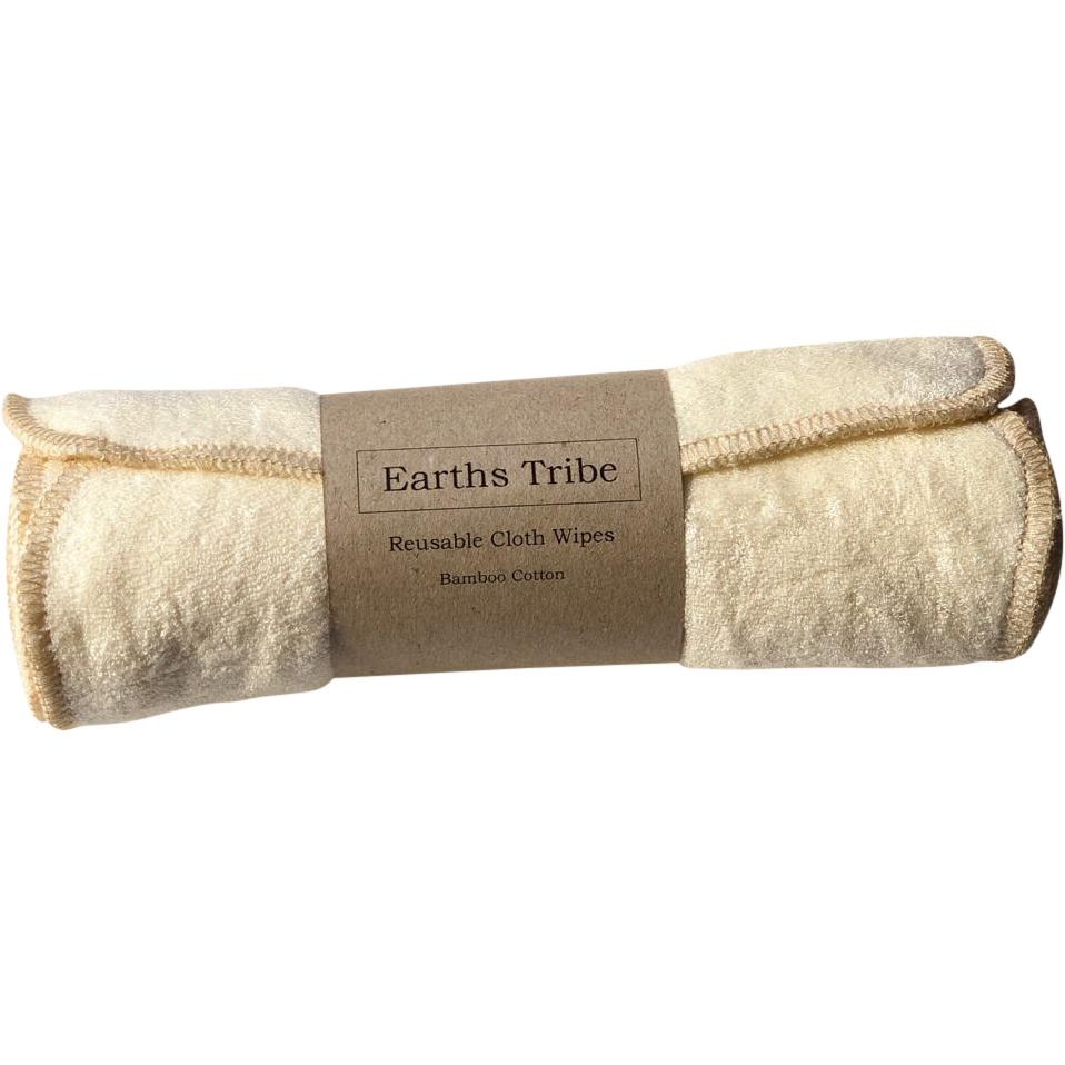 Earth's Tribe Reusable Bamboo Cotton Face and Baby Wipes