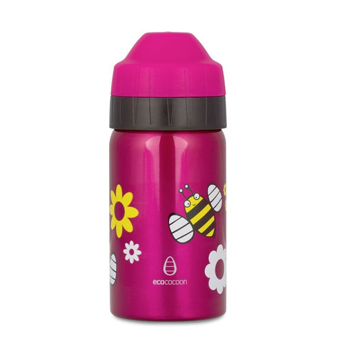 Ecococoon Stainless Steel Water Bottle, Spring Bees 350ml