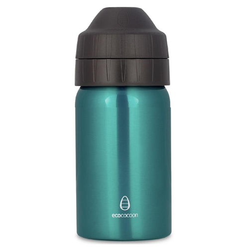 Ecococoon Stainless Steel Water Bottle, Emerald Green - 350ml