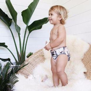 EcoNaps Cloth Nappy, Dusty Palms - The Clean Collective
