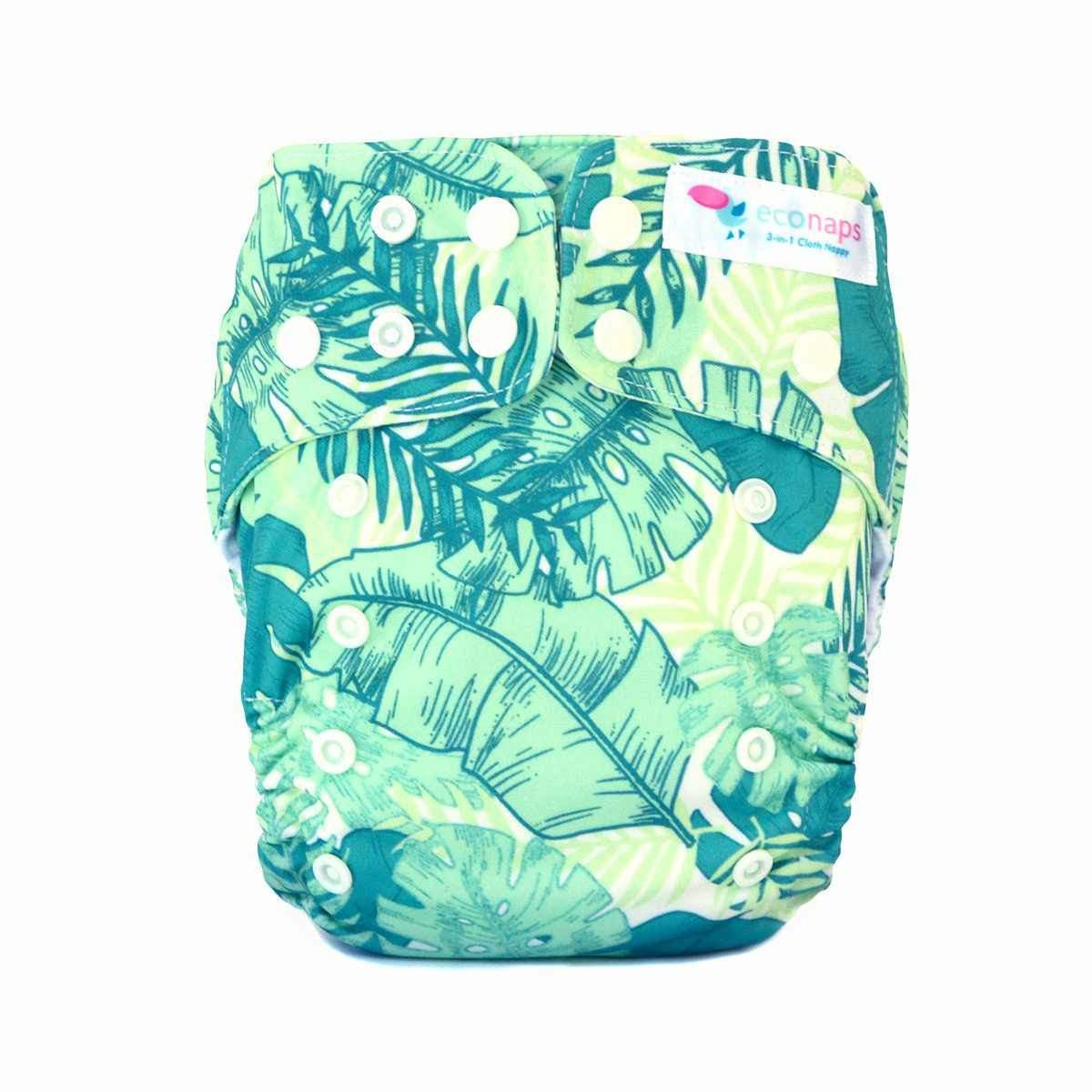 EcoNaps Cloth Nappy, Tropical Palms