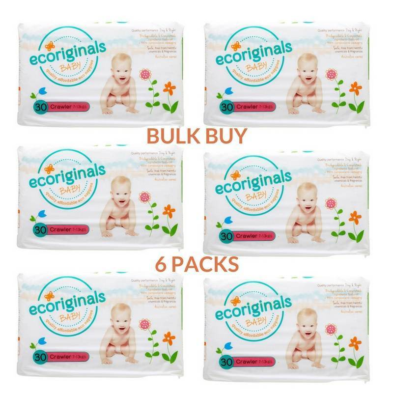 Ecoriginals Crawler Nappies (7-13Kg) Bulk Buy (6 packs)