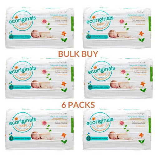 Ecoriginals Newborn Plus Nappies (4-6Kg) Bulk Buy (6 packs)