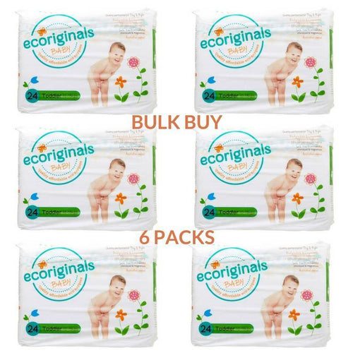 Ecoriginals Toddler Nappies (10-15Kg) Bulk Buy (6 packs)