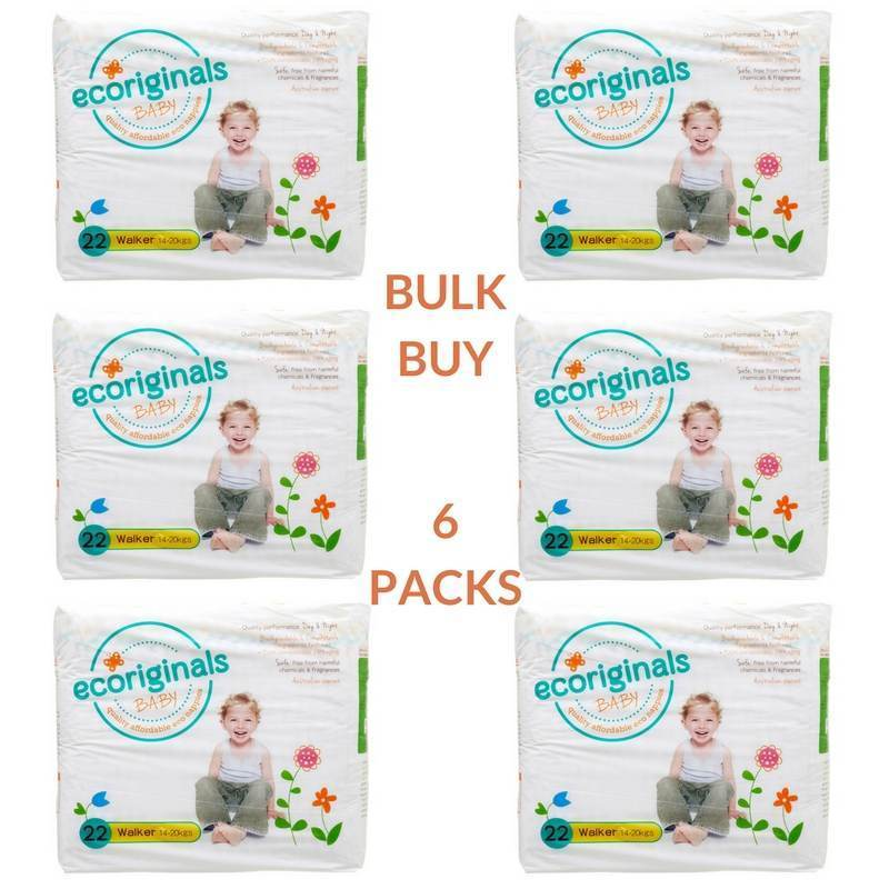 Ecoriginals Walker Nappies (14-20Kg) Bulk Buy (6 packs)