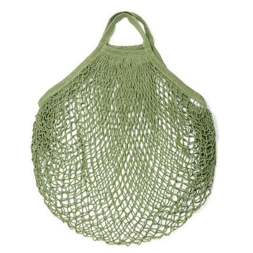 E String Bags Cotton Shopping Bag, Khaki Green