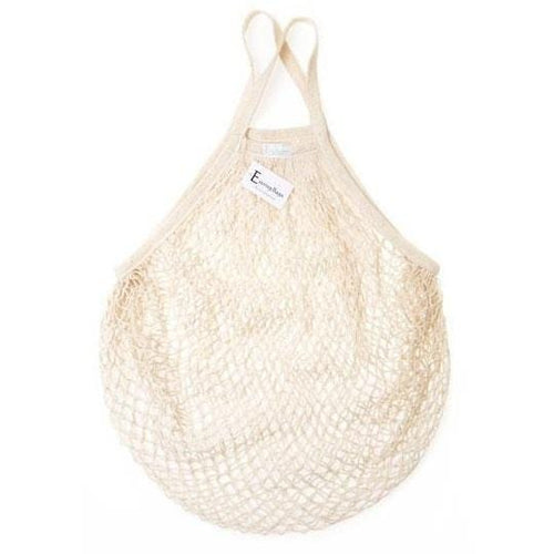 E String Bags Cotton Shopping Bag, Oatmeal