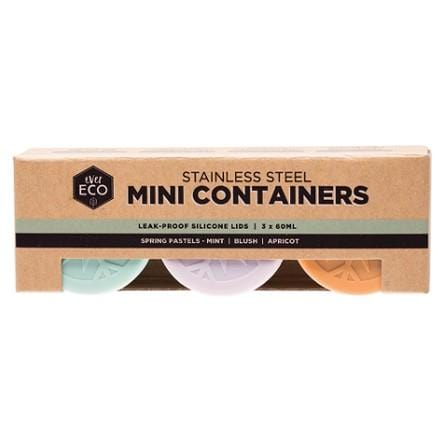 Ever Eco Stainless Steel Mini Containers, Set Of 3
