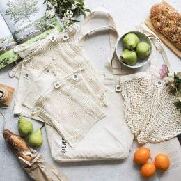 Ever Eco Organic Cotton Zero Waste Shopping Set- The Clean Collective