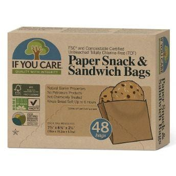 If You Care Paper Snack and Sandwich Bags