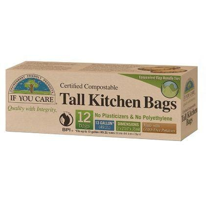 If You Care Compostable Tall Kitchen Bags - The Clean Collective
