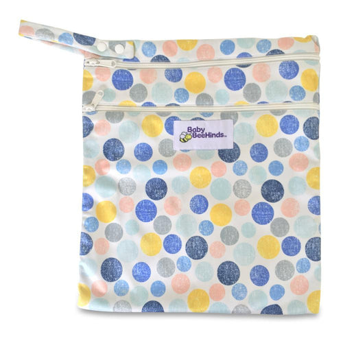 Baby Beehinds Double Pocket Wet Bag - Marbles Mania