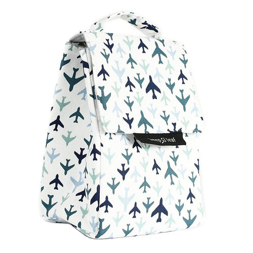Keep Leaf Insulated Organic Lunch Bag, Planes