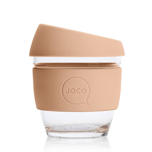 JOCO Reusable Glass Cups, Amberlight 4oz, 6oz