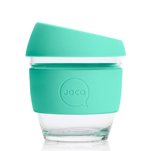 JOCO Reusable Glass Cups, Vintage Green 4oz, 6oz