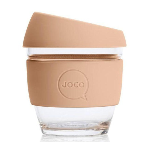 JOCO Reusable Glass Cups, Amberlight 8oz- The Clean Collective