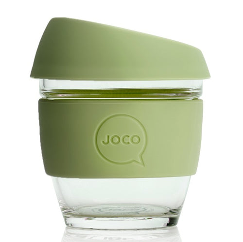 JOCO Reusable Glass Cups, Army 8oz, 12oz
