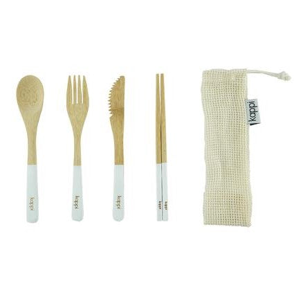Kappi Reusable Bamboo Cutlery Set with Pouch