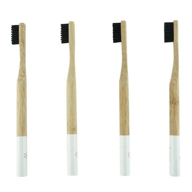 Kappi Eco Bamboo Toothbrush Medium, 4 Pack- The Clean Collective