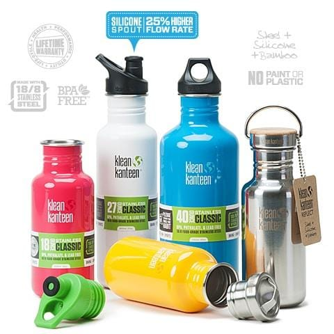 Klean Kanteen Bottle Brushed Stainless Loop Cap 1182ml
